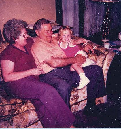 Granny, Pap, and me -- sometime in the 80's.